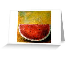 Folk Art Melon  Greeting Card