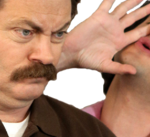 Jean Ralphio and Ron Swanson Sticker