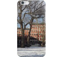 Snow View, Hamilton Park, Jersey City, New Jersey  iPhone Case/Skin