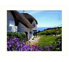 English Cottage Art Print