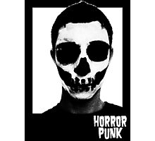 Horror Punk Skullface Photographic Print