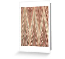 Zig Zags Greeting Card