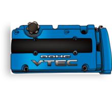 Honda H22 valve cover - Blue V.2 Canvas Print