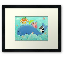 Whale Of A Time! Framed Print