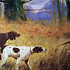 Hounds at the ready oil painting reporduction of 18th century painting by coolart