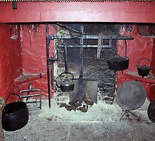 Irish cottage fireplace by John Quinn