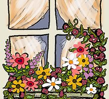 Window Flower Box by Cherie Balowski