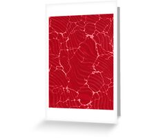 Blood Waves Greeting Card