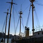 Ships in the Seaport by RachelB