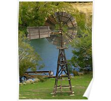 Wooden Windmill Poster