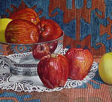 Apples and Lace by Freda Surgenor