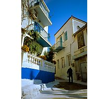 Up from the Harbour, Poros Photographic Print