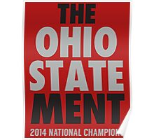 The Ohio State MENT National Champions 2014-2015 shirt sweatshirt and more Poster