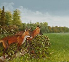 Young Foxes by Irene Clarke