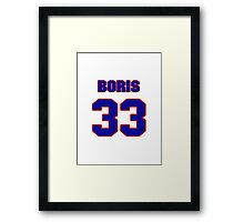 Basketball player Boris Diaw jersey 33 Framed Print