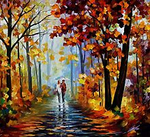 Rain In Woods — Buy Now Link - www.etsy.com/listing/217429651 by Leonid  Afremov