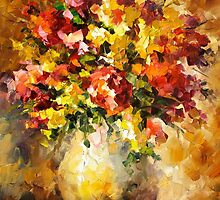 Flowers Of Illousions — Buy Now Link - www.etsy.com/listing/218279819 by Leonid  Afremov