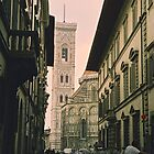 Backstreets of Florence, Italy by Elana Bailey