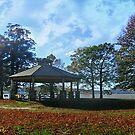 Gazebo By the Hudson River, Kingsland Point Park by Jane Neill-Hancock