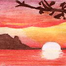 Red sunset - pencils by ch3rrybl0ss0m