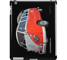 Orange Volkswagen Kombi with surfboard. iPad Case/Skin