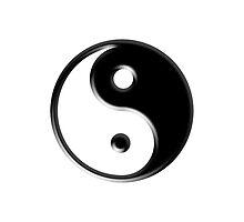 Black Yin Yang Symbol by TigerLynx