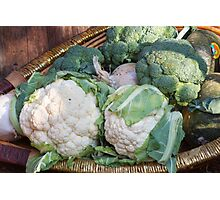 cauliflower in the basket Photographic Print
