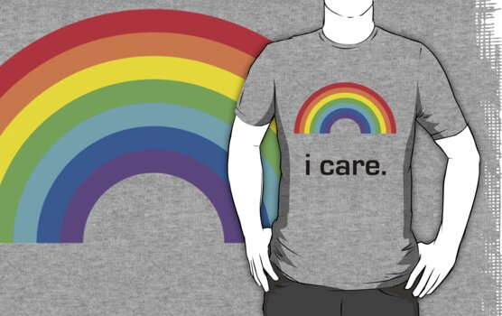 Sichuan Earthquake Rainbow Black I Care by icaretees