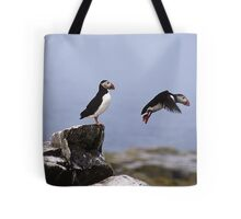 Leaping Puffin Tote Bag