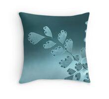 bokeh sunset, in blue Throw Pillow