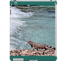 Iguana at beach iPad Case/Skin