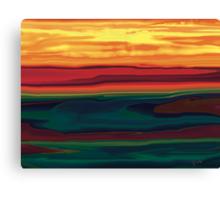 Sunset in Ottawa Valley Canvas Print