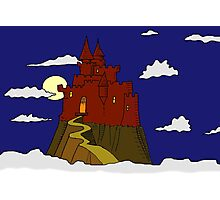 Magical castle in the clouds Photographic Print
