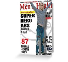 Cobain Men's Health Greeting Card