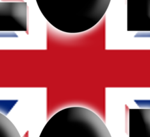 UNION JACK, LONDON, ENGLAND, IN COLOUR, UK, Britain, BRITISH, Sticker