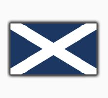 Scottish Flag, Saltire, Scots, Flag of Scotland, Pure & Simple by TOM HILL - Designer