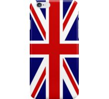 British Union Jack Flag, 1;2 UK, United Kingdom, Portrait, Pure & simple  iPhone Case/Skin
