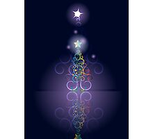 Greeting card design with abstract Christmas tree 3 Photographic Print