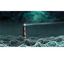 Lighthouse in the storm 2 Photographic Print