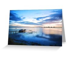 Waking Up feeling Blue Greeting Card