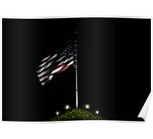 USA Night Flag Poster