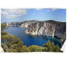 Zakynthos cliffs  Poster