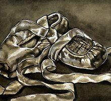 Pointe Shoes in Ink II by Rachelle Dyer