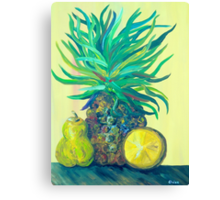 Pear and Pineapple Canvas Print