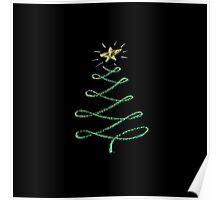 Chalkboard Art Christmas Tree Poster