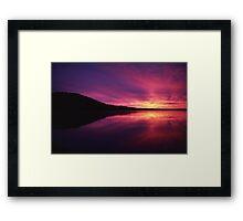 Fiery Sunrise over Thumb Lake, Michigan Framed Print