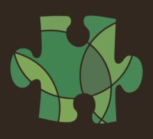 Green puzzle piece by sledgehammer