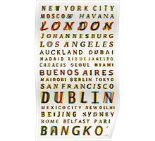 Travel World Cities Poster