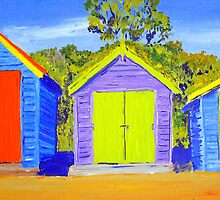 Dendy Street Brighton  Vic Bathing Boxes  by gillsart
