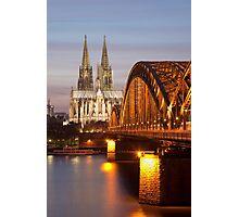 Köln by Night Photographic Print